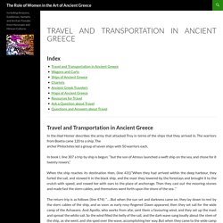 Travel and Transportation in Ancient Greece