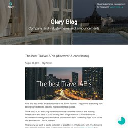 The best Travel APIs (Transportation, Hotels, Mapping)