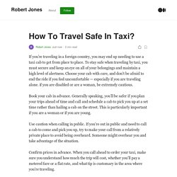 How To Travel Safe In Taxi?. If you're traveling in a foreign…
