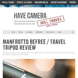 Travel Tripod Review / Manfrotto BeFree