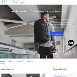 Aer Travel Pack: The Ultimate Carry-on Backpack by Aer