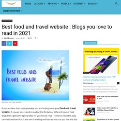 Best food and travel website in 2021- Webree digito