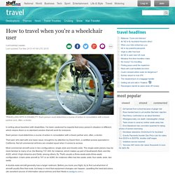 How to travel when you're a wheelchair user