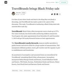 TravelBrands brings Black Friday sale