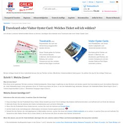 Travelcard oder Oyster Card?