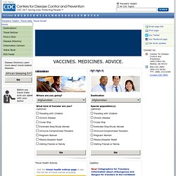 Travelers' Health - CDC