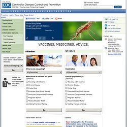 Travelers' Health | CDC