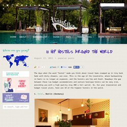 10 hip hostels around the world