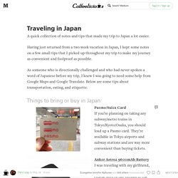 Tips For Traveling in Japan — The Coffeelicious