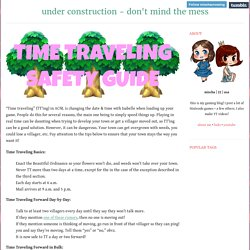 """Time traveling"" (TT'ing) in ACNL is changing the..."
