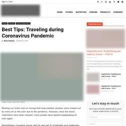 Best Tips: Traveling During Coronavirus Pandemic