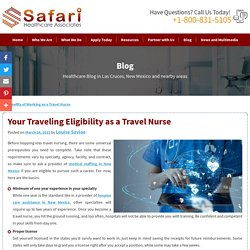 Your Traveling Eligibility as a Travel Nurse