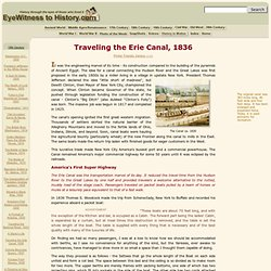 Traveling the Erie Canal, 1836