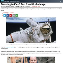 Traveling to Mars? Top 6 health challenges