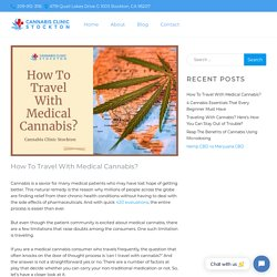 Guide to Traveling With Medical Cannabis
