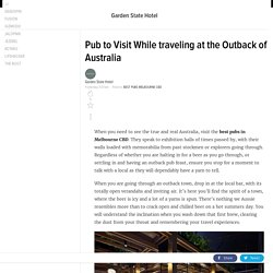 Pub to Visit While traveling at the Outback of Australia