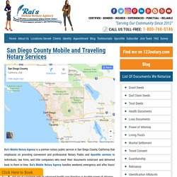Mobile Notary Services in San Diego from Rai's Mobile Notary