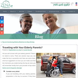 Traveling with Your Elderly Parents?