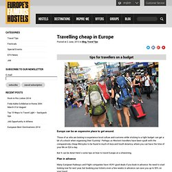 Travelling cheap in Europe