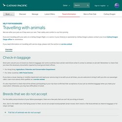 Travel information - Cathay Pacific