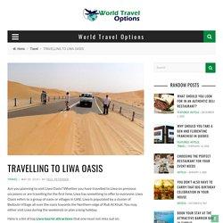 TRAVELLING TO LIWA OASIS