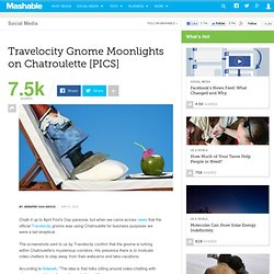 Travelocity Gnome Moonlights on Chatroulette [PICS]