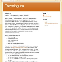 Traveloguru: JetBlue Airlines Booking Phone Number