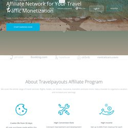 Travelpayouts — travel affiliate program for you website monetization. Join for free