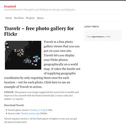 Grant Robinson : Travelr - photo gallery for Flickr
