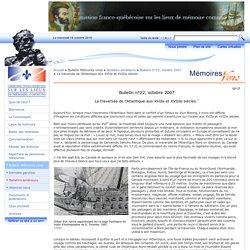 La traversée de l'Atlantique aux XVIIe et XVIIIe siècles.
