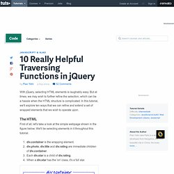 10 Really Helpful Traversing Functions in jQuery