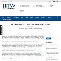 Travertine Warehouse - Travertine Tiles & Marbles in Florida