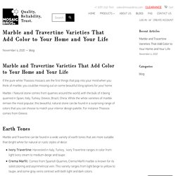 Marble and Travertine Varieties That Add Color to Your Home and Your L – MosaicBros.com