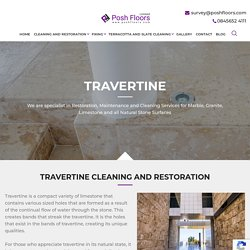 Get Travertine Cleaning Services in London