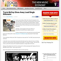 Travis McCoy Gives Away Lead Single Billionaire