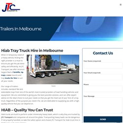 Best Tray Truck Hire in Melbourne