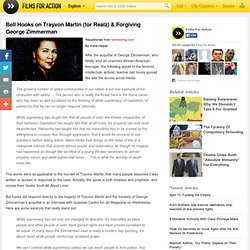 Bell Hooks on Trayvon Martin (for Realz) & Forgiving George Zimmerman
