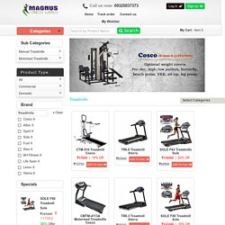 Folding Motorised Treadmills Prices India