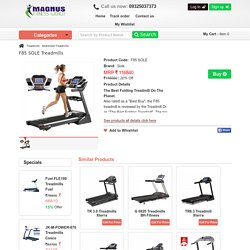 Exercise Equipments SOLE Motorized Treadmill Shop