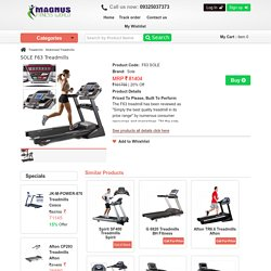 Gym Equipments SOLE Motorised Treadmill Shop Nagpur