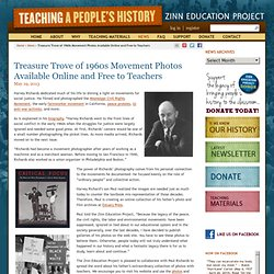 » Treasure Trove of 1960s Movement Photos Available Online and Free to Teachers Zinn Education Project