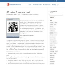 QR codes: A treasure hunt