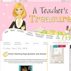 Virtual Teaching Expo Question and Answer