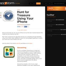 Hunt for Treasure Using Your iPhone