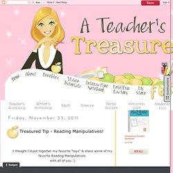 Treasured Tip - Reading Manipulatives!