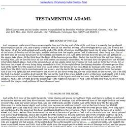 The Book of the Cave of Treasures - Testamentum Adami