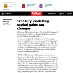 Treasury modelling capital gains tax changes - Crikey