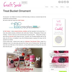 Treat Bucket Ornament