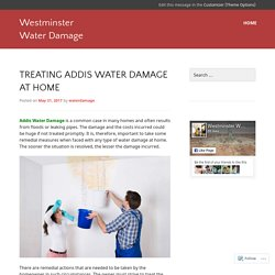 Treating Addis Water Damage at Home