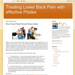 Treating Lower Back Pain with effective Pilates: Why Choose Pilates Physical Fitness System